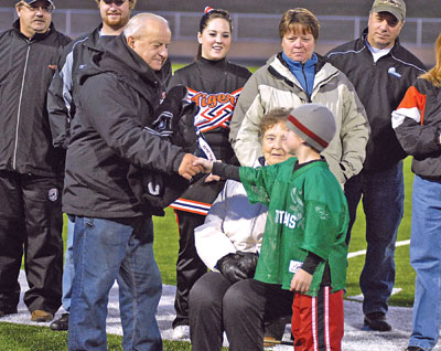 Louis Schmitz Honored at Farmington High School Football Game